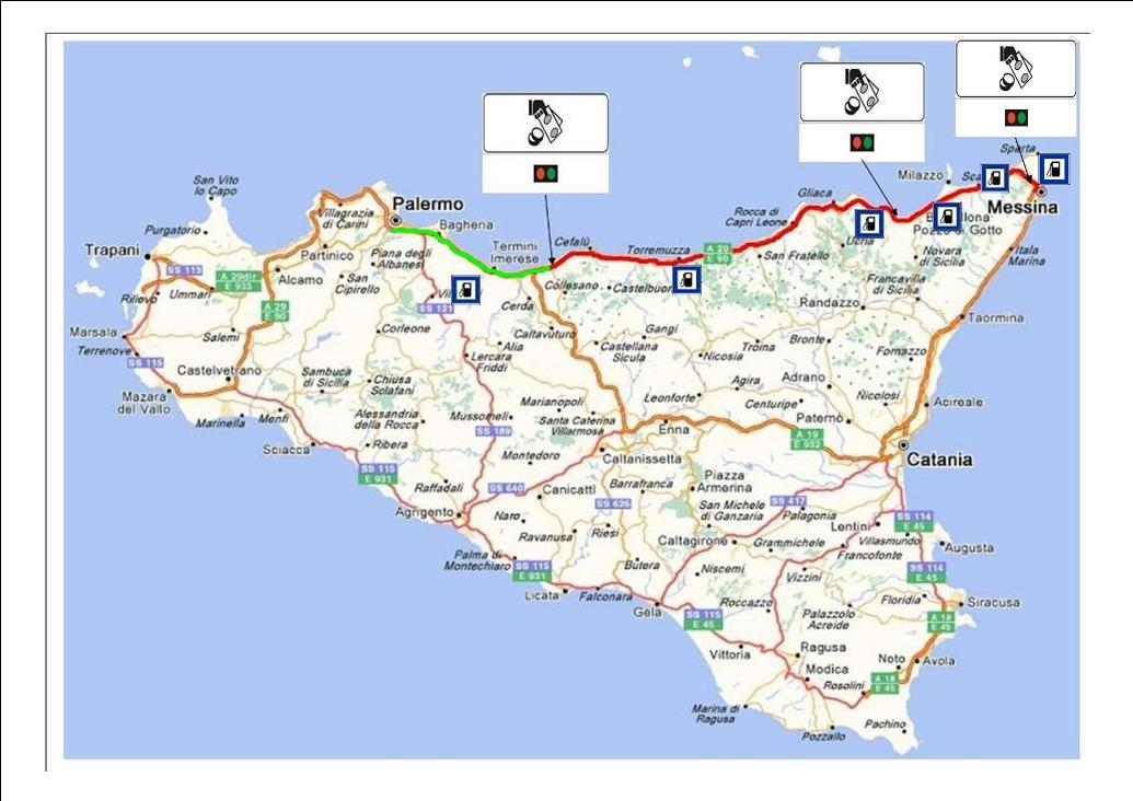 Cartina Autostradale Sicilia.Autostrada A20 Palermo Messina