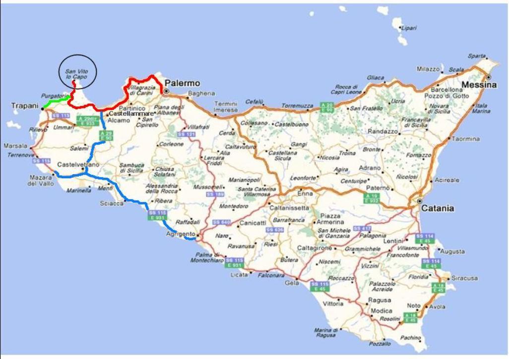 Sicilia Cartina San Vito Lo Capo.Scopri I Posti Piu Selvaggi Della Sicilia