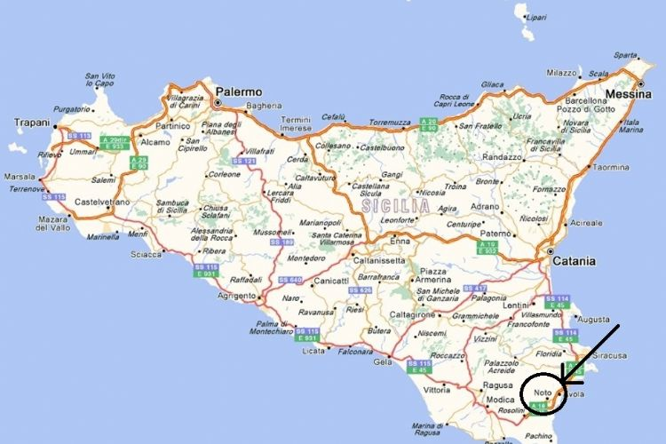 Cartina Noto Sicilia.Scopri I Posti Piu Selvaggi Della Sicilia